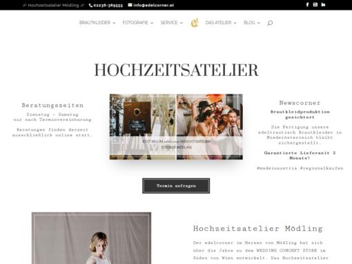 Website – Hochzeitsatelier edelcorner